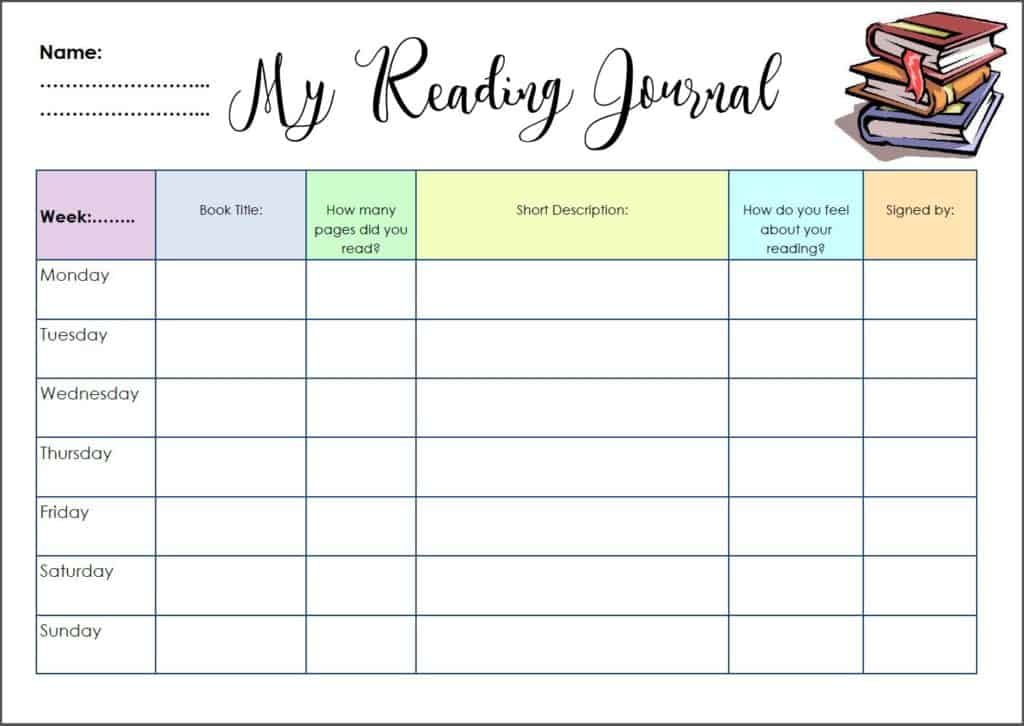 reading journal for primary schools