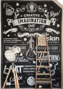 chalkboard paint and motivational quotes