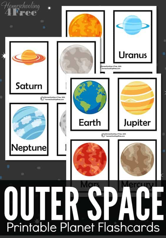 planet education science printable flashcards